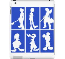 Kingdom Hearts - Character Roster (Blue) iPad Case/Skin