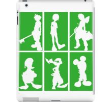 Kingdom Hearts - Character Roster (Green) iPad Case/Skin
