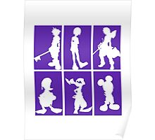 Kingdom Hearts - Character Roster (Purple) Poster