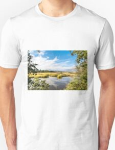Green Marsh Grasses Under Blue Sky Unisex T-Shirt