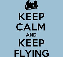Keep Calm and Keep Flying (Black) Unisex T-Shirt