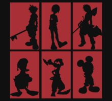Kingdom Hearts - Character Roster (Red) by SvenjaMarc