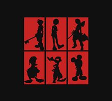 Kingdom Hearts - Character Roster (Red) Unisex T-Shirt
