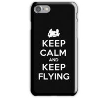 Keep Calm and Keep Flying (White) iPhone Case/Skin