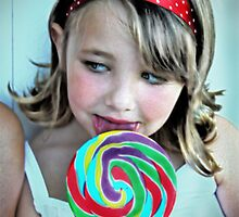 Little Girl with a Lollipop by Tara Paulovits