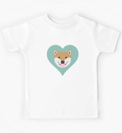 Shiba Love - Heart shiba inu funny dog for dog lovers pet gifts customizable dog meme dog person Kids Tee