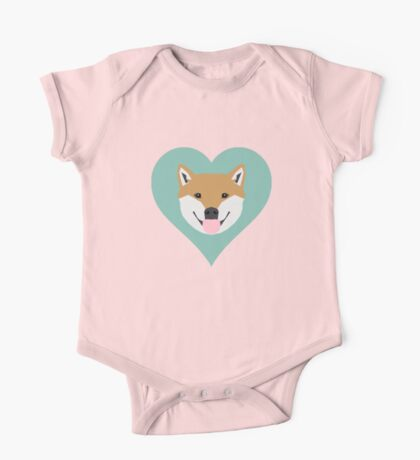 Shiba Love - Heart shiba inu funny dog for dog lovers pet gifts customizable dog meme dog person One Piece - Short Sleeve
