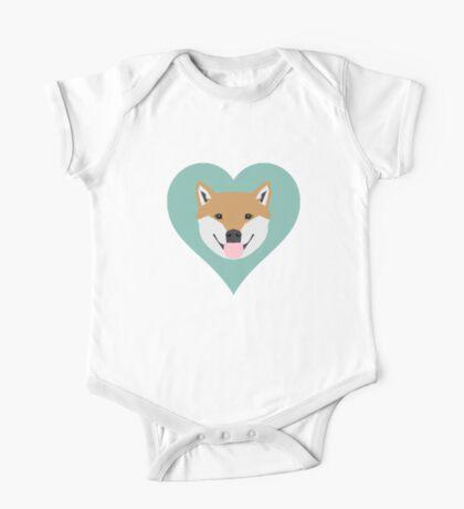 Shiba Love - Heart shiba inu funny dog for dog lovers pet gifts customizable dog meme dog person One Piece - Short Sleeve