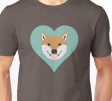 Shiba Love - Heart shiba inu funny dog for dog lovers pet gifts customizable dog meme dog person Unisex T-Shirt