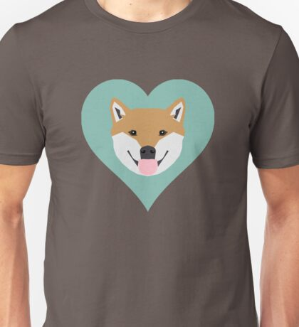 Shiba Love - Heart shiba inu funny dog for dog lovers pet gifts customizable dog meme dog person Unisex T-Shirt