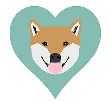 Shiba Love - Heart shiba inu funny dog for dog lovers pet gifts customizable dog meme dog person by PetFriendly