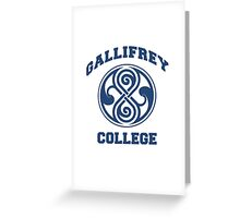 Gallifrey College Greeting Card