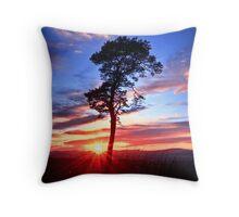 November Sunset Throw Pillow