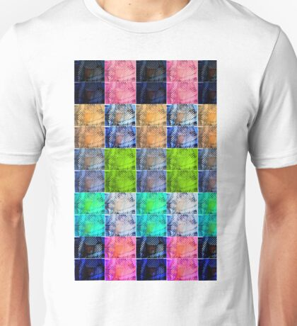 Coloured Repetition Splice (Enlarged) Unisex T-Shirt