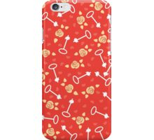 Heart, roses and keys. iPhone Case/Skin