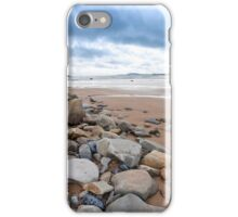 storm clouds over rocky beal beach iPhone Case/Skin