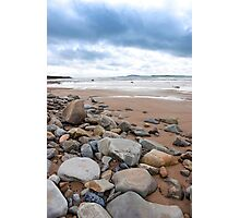 storm clouds over rocky beal beach Photographic Print