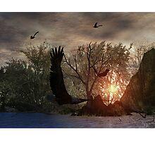 Sunset on Eagle Lake Photographic Print