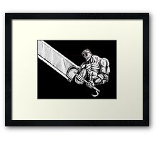 Berserker Guts Framed Print