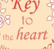 Heart, roses and keys. Sticker