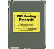 ISIS Hunting Permit iPad Case/Skin