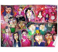 Dolls all over Poster
