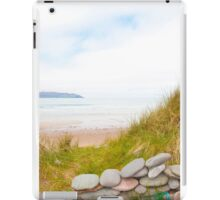 stone wall shelter on a beautiful beach iPad Case/Skin