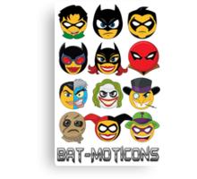 Bat-Moticons Canvas Print