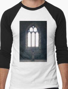 girl in church Men's Baseball ¾ T-Shirt