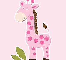 Cute Pink Giraffe  by JessDesigns