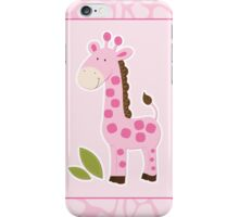 Cute Pink Giraffe  iPhone Case/Skin