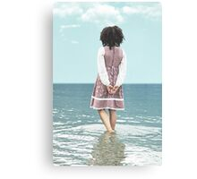 walking in water Canvas Print