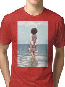 walking in water Tri-blend T-Shirt