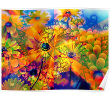 Flowers in the Sunshine Poster
