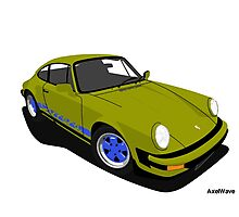 My own 911 in olive green 2 Photographic Print