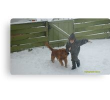 !A BOY & HIS DOG! Metal Print