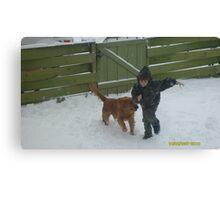 !A BOY & HIS DOG! Canvas Print