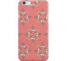Flower red pattern iPhone Case/Skin