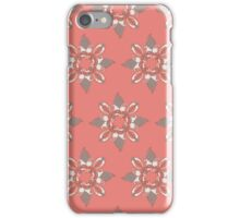 Flower red pattern iPhone Case/Skin