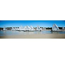 Laser Boats Photographic Print