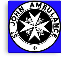 TARDIS St. John's Ambulance Logo (available as leggings!) Canvas Print