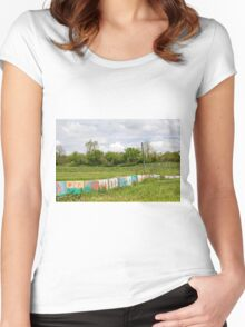 Painted Blocks Women's Fitted Scoop T-Shirt