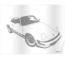 My own 911 in grey  Poster