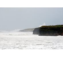 storm waves at Ballybunion cliffs Photographic Print