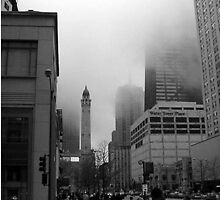 Chicago in Fog by Maria  Palumbo