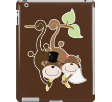 Monkey Wedding Couple Bride and Groom iPad Case/Skin