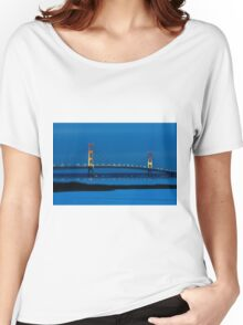 Mackinac Bridge at Night Women's Relaxed Fit T-Shirt