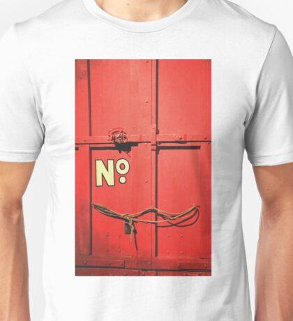 Red Train Car Unisex T-Shirt