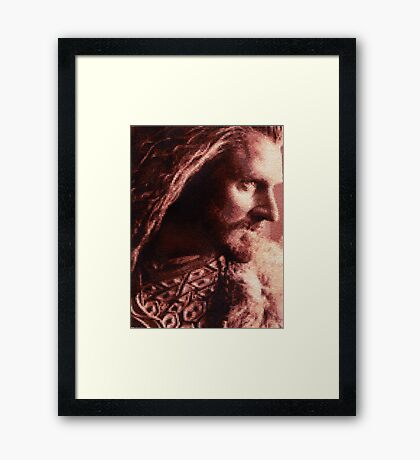 Thorin Oakenshield Stitched look Framed Print