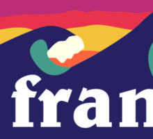 La France surfing waves Sticker